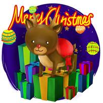 原创元素圣诞麋鹿大礼包